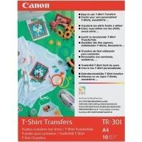 Canon T-shirt Transfers TR-301 - A4 (210 x 297 mm) 10 Stck. Transferpapier zum Aufbügeln - für PIXMA iP5300, iP90, MG8250, MP180, MP490, MP510, MP550, MP560, MP600, MP810, MP960, MX330