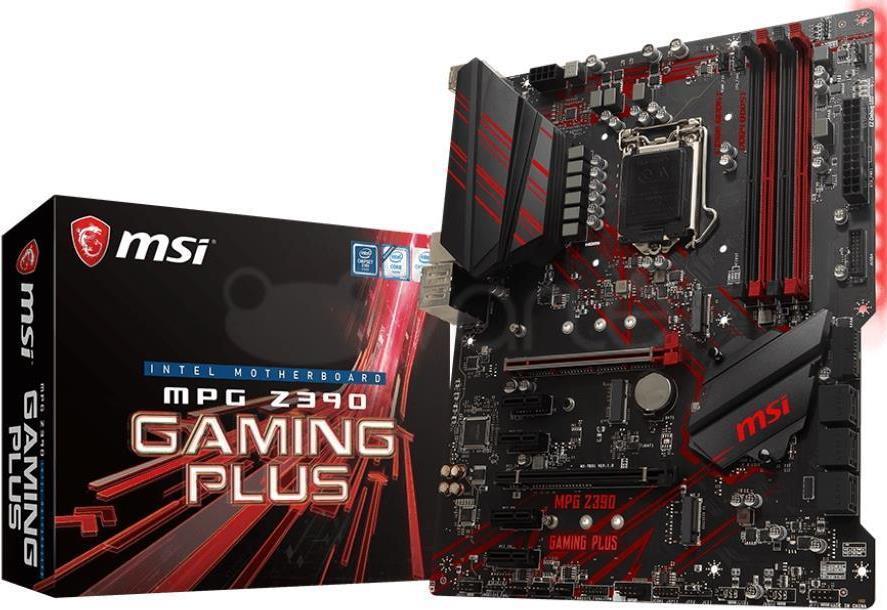 MSI MPG Z390 GAMING PLUS - Motherboard - ATX - LGA1151 Socket - Z390 - USB 3,1 Gen 1, USB-C Gen2, USB 3,1 Gen 2 - Gigabit LAN - Onboard-Grafik (CPU erforderlich) - HD Audio (8-Kanal) (7B51-001R)