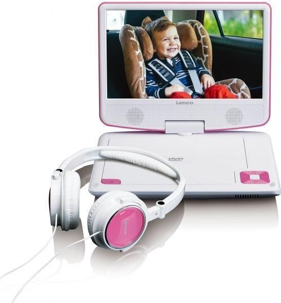 DVD Player, Blu Ray - Lenco DVP 910 Portable DVD player Cabrio 22,90cm (9) Schwarz Pink (DVP910PINK)  - Onlineshop JACOB Elektronik