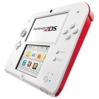 Nintendo 2DS - Handheld-Spielkonsole - weiß, Ro...