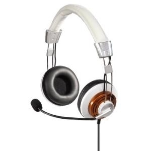 Hama PC Headset HS-320 - Headset - Full-Size - weiß, Gold