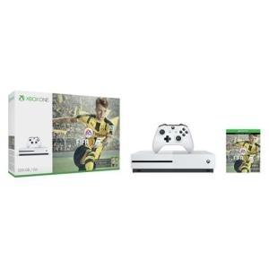 Microsoft Xbox One S - Spielkonsole 4K HDR 500GB HDD weiß FIFA 17 (ZQ9-00055) 0889842139150 jetztbilligerkaufen.de