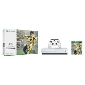 Microsoft Xbox One S - Spielkonsole 4K HDR 500GB HDD weiß FIFA 17 (ZQ9-00055)