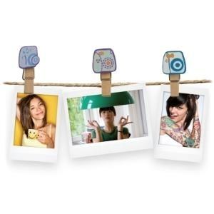 Fujifilm Instax Design Clips Camera - Photo holder kit Holz (70100127832) - broschei