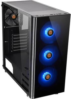 Computergehäuse - Thermaltake V Series V200 TG RGB Tempered Glass RGB Edition Midi Tower ATX ohne Netzteil (PS 2) Schwarz USB Audio (CA 1K8 00M1WN 01)  - Onlineshop JACOB Elektronik