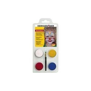 EBERHARD FABER Schminkfarben-Set Clown, 4 Farbe...