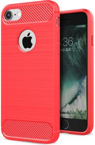 PEDEA Carbon Case für Apple iPhone 7/8, rot (50...