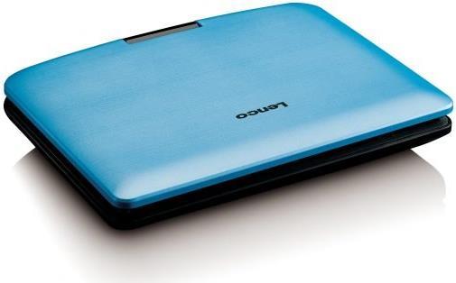 DVD Player, Blu Ray - Lenco DVP 910 Portable DVD player Cabrio 22,90cm (9) Schwarz Blau (DVP910BLAU)  - Onlineshop JACOB Elektronik