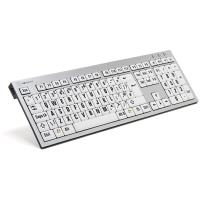 Logickeyboard XLPrint - USB - Büro - QWERTY - UK Englisch - Verkabelt - PC / Server (LKB-LPRNTBW-AJPU-UK)