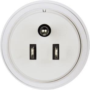 Hama Travel Adapter Plug - Adapter für Power Connector - Typ B (M) bis CEE 7/4 (W) - weiß - Vereinigte Staaten