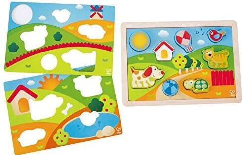 Hape E1601 Pepe und Friends Sonnental Puzzle