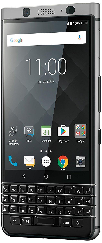Smartphones, Handys - BlackBerry KEYone Business Smartphone 32GB interner Speicher 3GB RAM LTE 12MP Kamera 11,43 cm 4.5' IPS LCD Display silber (PRD 63117 011)  - Onlineshop JACOB Elektronik