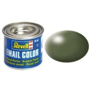 Revell Olivgrün - seidenmatt RAL 6003 14 ml-Dose Farbe Olive Kunstharz Emaillelackierung Zinn (32361)