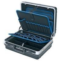 Knipex Werkzeugkoffer Basic, leer, zur individuellen Bestückung, Strapazierfähige Ausführung aus ABS-Material, schwarz (002105LE)