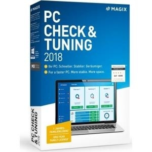 Magix PC Check & Tuning 2018 - PC Check & Tuning - Systemoptimierung - Vollversion, 1 Lizenz - Windows (ANR007713BOX)