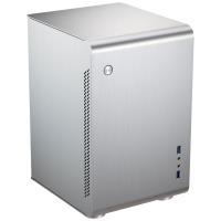 Computergehäuse - Cooltek U2 Cube Mini ITX ohne Netzteil Silber USB Audio  - Onlineshop JACOB Elektronik
