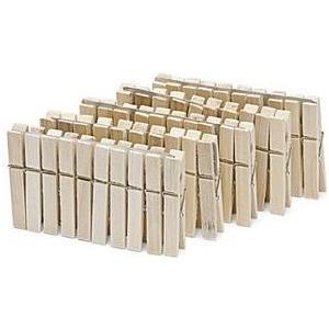 Nölle Wäscheklammern, aus Holz, Länge: 70 mm mit Metallfeder, im Blockpack - 1 Stück (738500) jetztbilligerkaufen