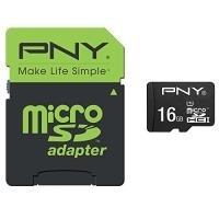 PNY Performance 2015 - Flash-Speicherkarte (microSDHC/SD-Adapter inbegriffen) - 16GB - UHS Class 1 / Class10 - microSDHC UHS-I (SDU16GPER50-EF)