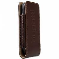 style for mobile Bugatti Twin Size S - Tasche für Mobiltelefon - Kalbsleder - Warm Brown - für LG KM570, Nokia 27XX, 52XX, C1, C2, C3, C5, X3, X6, Samsung GT S3370, Wave 525, 723 (07148)