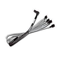 LSI - SATA- / SAS-Kabel - mit Sidebands - 36 PIN 4iMini MultiLane (M) - 7-poliges SATA - 1,0m - rechts abgewinkelter Anschluss (CBL-RA8087SATASB-10M)