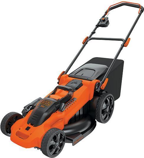 Gartengeräte - Black Decker CLMA4820L2 Schubrasenmäher Batterie Akku Schwarz Orange (CLMA4820L2 QW)  - Onlineshop JACOB Elektronik