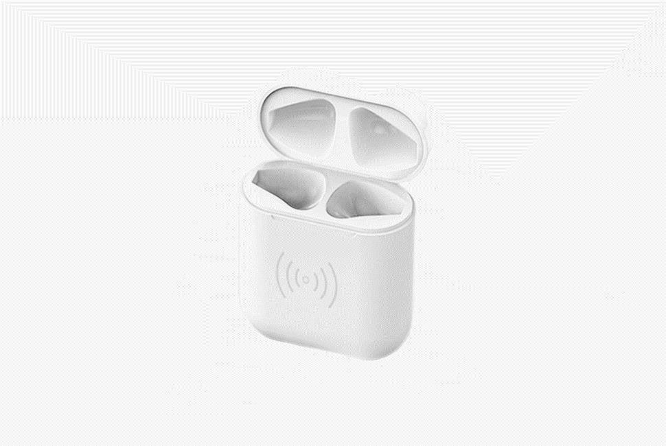 Cyoo - Ladetasche - Apple Airpods - - Mit Kabel oder Wireless - weiß
