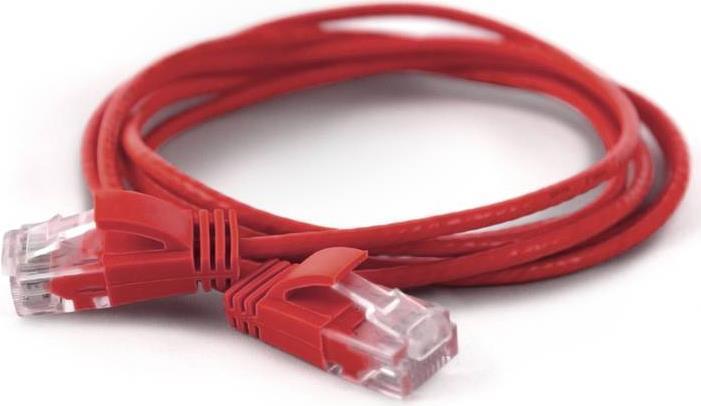Wantec wW Patchkabel CAT6A rund 2.8mm UTP rot 0.50m - Netzwerk - Patchkabel - 0,5 m - Cat6a - U/UTP (UTP) - RJ-45 - RJ-45 - Rot (7270)