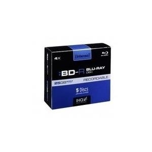 Intenso Blu-Ray-Disk - 5 x BD-R - 25 GB 4x - Jewel Case (Schachtel) (5001215)