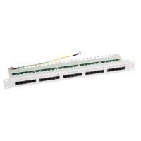 LogiLink 48,30cm (19) ISDN Patch Panel Kat.3, 25-Ports, lichtgrau (RAL7035), 25 x RJ45 Kupplungen, Material: Stahl, 1 HE, - 1 Stück (NP0050)