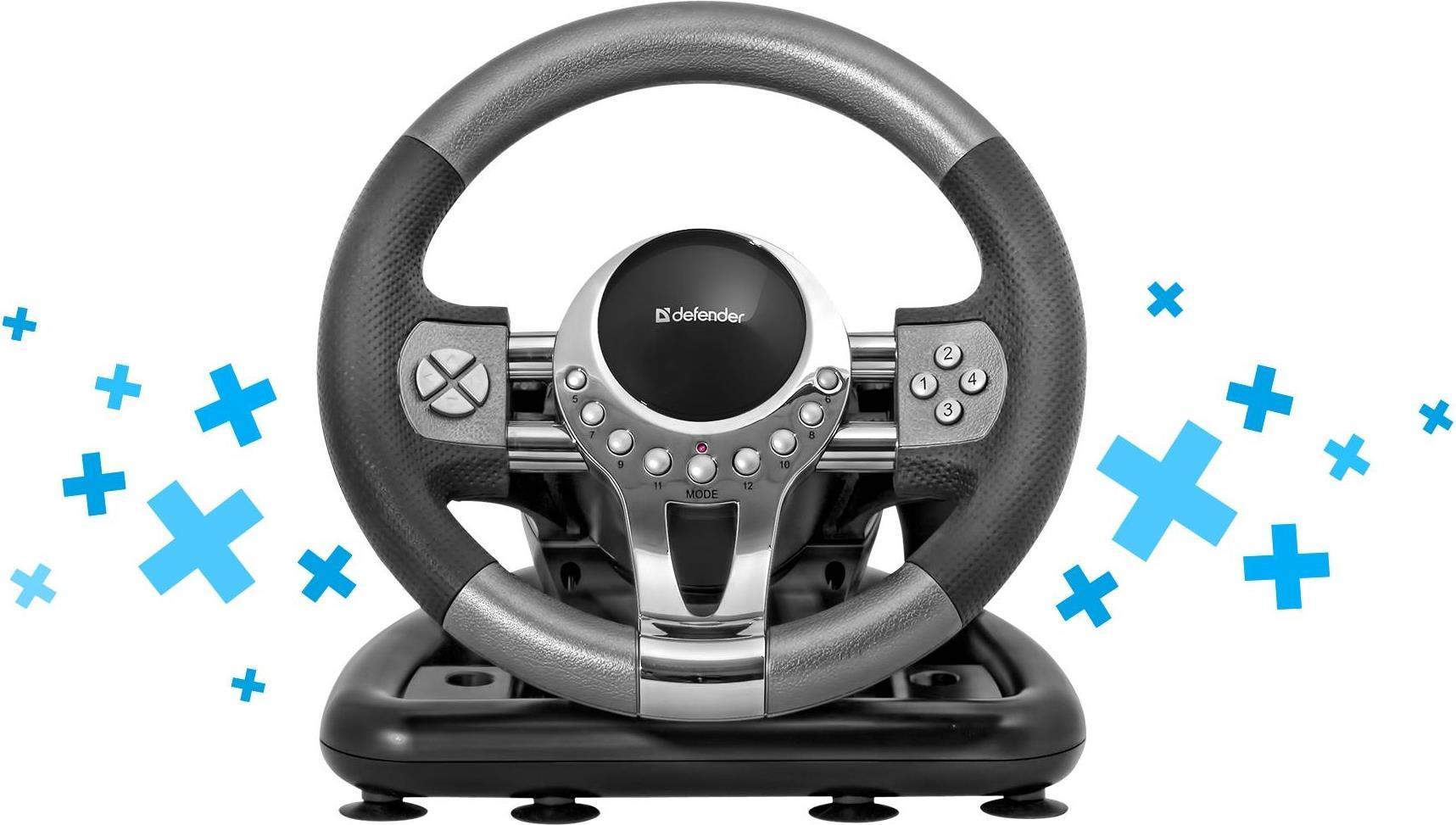 DEFENDER Gaming wheel FORSAGE GTR USB 12 button...