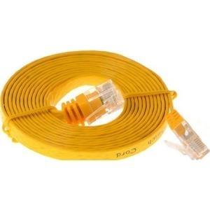 Herweck CAT 6a Patchkabel - Patch-Kabel RJ-45 (M) 5,0m UTP (Kategorie 6) gelb Flachkabel (014853) jetztbilligerkaufen