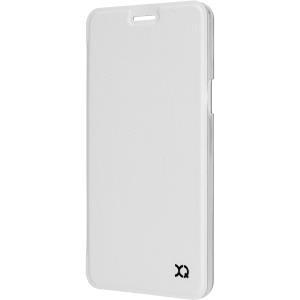 Xqisit Flap Cover Adour - Flip-Hülle für Mobiltelefon - Polycarbonat, Kunstleder - weiß - für Samsung Galaxy A3 (2016)