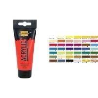 C.KREUL Acrylfarbe SOLO Goya, weinrot, 100 ml Art Acryl Basic, deckend, lichtbeständig, lasierend vermal- (84110)