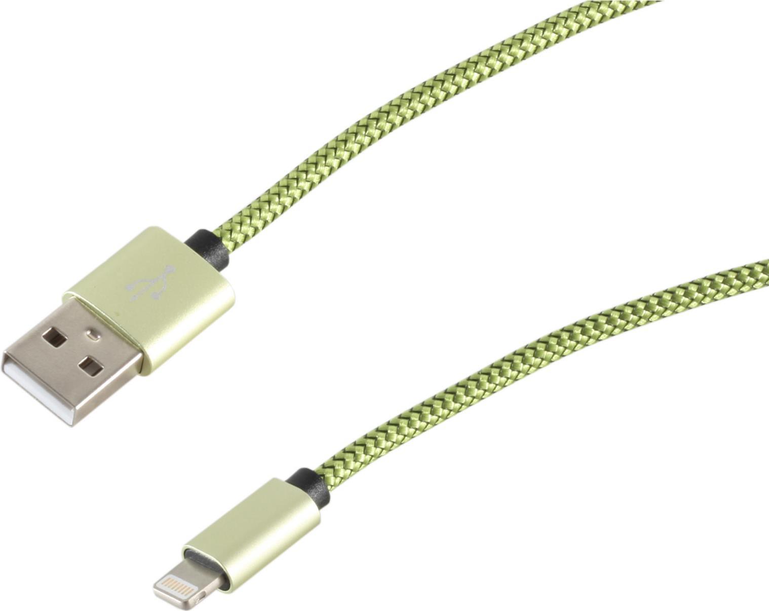 S-Conn 14-50111 0.9m USB A Lightning Grün Handykabel (14-50111)