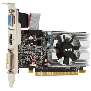 MSI R5 230 1GD3H LP - Grafikkarten - Radeon R5 230 - 1GB GDDR3 - PCIe 2,1 x16 Low Profile - DVI, D-Sub, HDMI - ohne Lüfter (V809-2054R)
