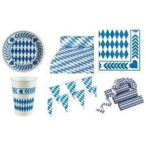 PAPSTAR Damast-Tischtuch Bayrisch Blau, auf Rolle aus geprägtem Papier, Maße: (B)1,0 x (L)10,0 m - 1 Stück (12543)