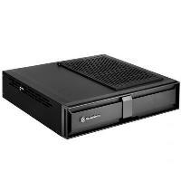 Computergehäuse - SilverStone MILO ML08B Desktop Slimline Mini ITX ohne Netzteil (SFX12V SFX L12V) Schwarz USB Audio (SST ML08B)  - Onlineshop JACOB Elektronik