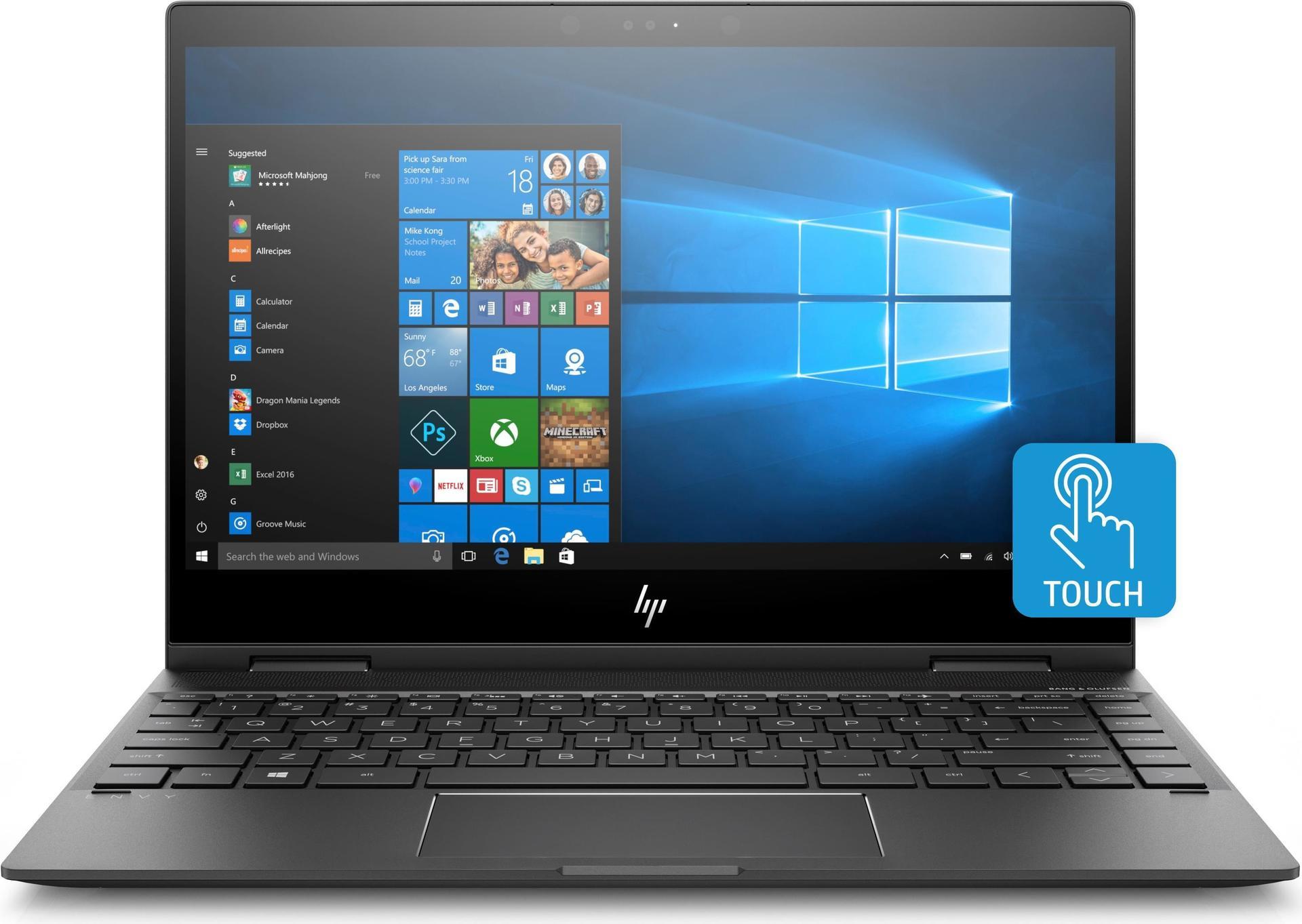 HP ENVY x360 13 ag0002ng 2GHz 2500U 13 3 1920 x 1080Pixel Touchscreen Schwarz