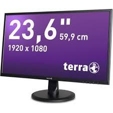 Terra Wortmann TERRA 2447W - LED-Monitor - 59.9 cm (23.6) - 1920 x 1080 Full HD (1080p) - MVA - 250 cd/m² - 5 ms - HDMI, DVI - Lautsprecher - mattschwarz (3030029)