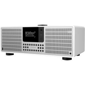 Internet Tischradio SuperSystem AUX, Bluetooth®, DAB+, Internetradio, UKW Spotify Weiß, Silber (609)