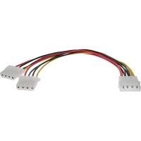 InLine Y-cable - Netz-Splitter - interne Stromversorgung, 4-polig (M) - interne Stromversorgung, 4-polig (W) - 20 cm (29659L)