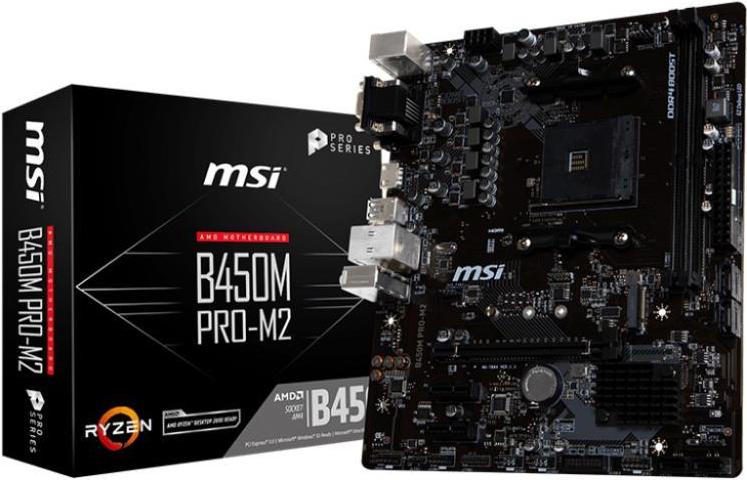 B450M Pro-M2 - AMD B450 Mainboard - Sockel AM4 (B450MPRO-M2)