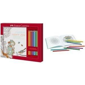 Faber-Castell 201433 - Ausmalset Happy Zen mit 8 Colour GRIP Buntstiften jetztbilligerkaufen