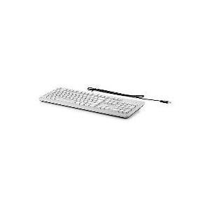 HP USB Grey Keyboard - UK / QWERTY - USB - Verkabelt - PC / Server - Standard - Gerade - Grau (B6B64AA#ABB) (B-Ware)
