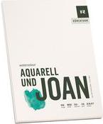 """RÖMERTURM Künstlerblock """"AQUARELL UND JOAN"""", 420 x 560 mm Aquarellblock, weiß, rau, 240 g/qm, 20 Blatt, - 1 Stück (88809317)"""