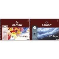 CANSON Künstlerpapier Mi-Teintes, im Album, 320 x 410 mm Farbe: 425 schwarz, 16 Blatt, 160 g/qm, 1 Seite mit Bienen- - 1 Stück (400030228)