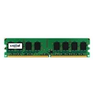 Crucial - Memory 1 GB DIMM 240-PIN DDR2 800 MHz / PC2-6400 CL6 1.8 V ungepuffert nicht-ECC für ASRock 4CoreN73, ALiveNF7G, ASUS Commando Republic of Gamers, M2N, M2N32, Maximus Formula (CT12864AA800)