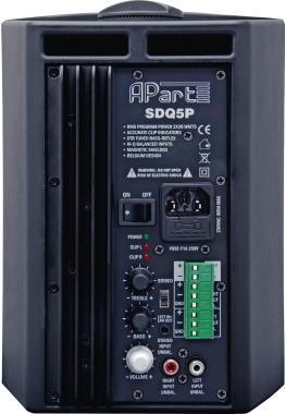 Lautsprecher - Apart SDQ5P BL Lautsprecher 30 Watt zweiweg Schwarz  - Onlineshop JACOB Elektronik
