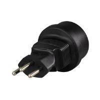 Hama Travel Adapter Plug - Netzteil - Netzstecker CEE 7/4 (SCHUKO) (W) - SEV 1011 (M) - Schwarz - Schweiz (108884)
