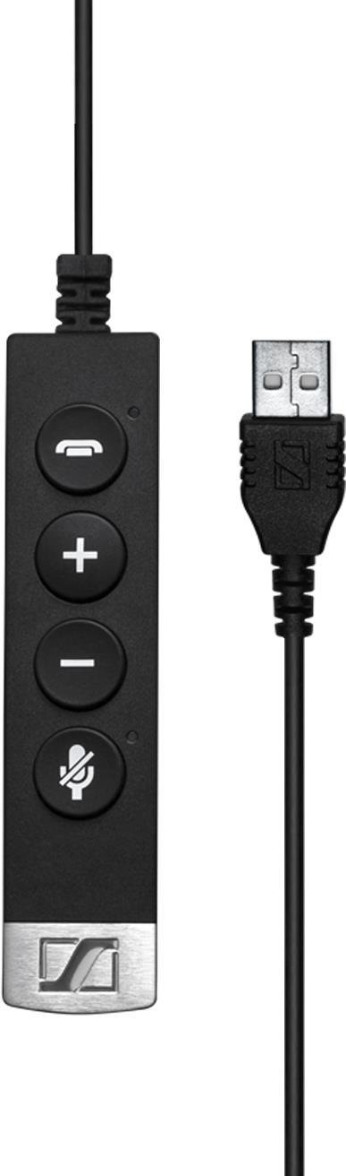 Sennheiser USB-CC 6x5 - Headset-Kabel - USB (M) bis 4-poliger Mini-Stecker (W) - geformt - für Century SC 635, SC 665